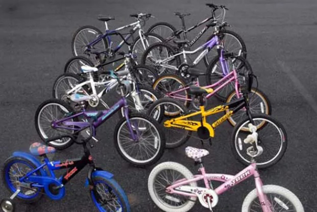 school bike lessons at franche primary with their own bike fleet pictured here
