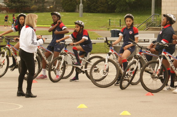 open trail cycle coaching group lesson